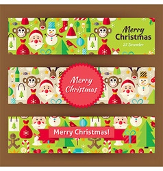 Merry Christmas Template Banners Set in Modern vector image