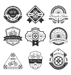 Bicycle labels vector image vector image