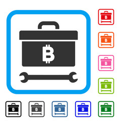 bitcoin toolbox framed icon vector image vector image