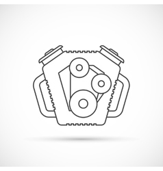Car engine outline icon vector image vector image