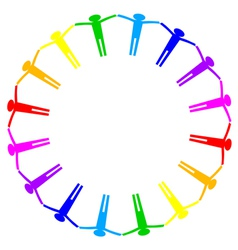 colorful icon of people in circle vector image vector image