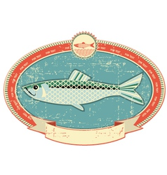 fish label background vector image vector image
