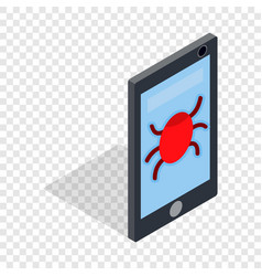 infected smartphone isometric icon vector image