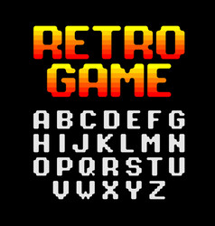 retro pixel video game font vector image vector image
