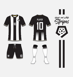 soccer kit or football jersey template and logo vector image vector image