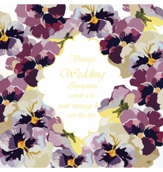Vintage watercolor greeting card vector