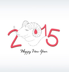 2015 year hand drawn background with a goat vector
