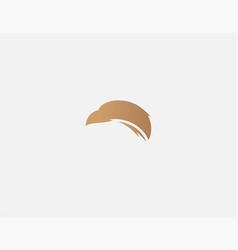 Abstract golden logo sign eagle head bird prey vector