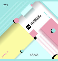 Abstract pastel color simple geometric vector