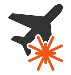 Aiplane Explosion Icon vector