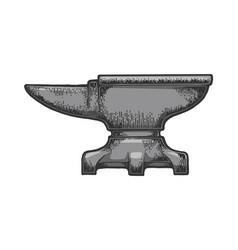 Anvil color sketch engraving vector