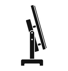 architect wood stand icon simple style vector image