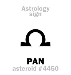 Astrology asteroid pan vector