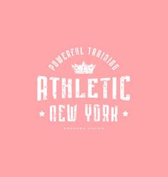 Athletic emblem for t-shirt vector