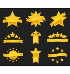 award ribbon with gold star vector image