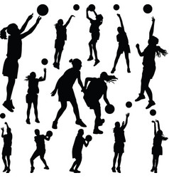 basketball woman player vector image