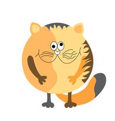 Big round cat vector