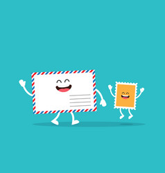 blank envelope with postage stamp vector image