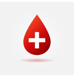 Blood red icon or logo vector image