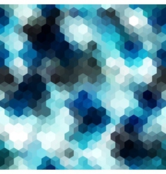 Blue abstract pattern from cubes vector