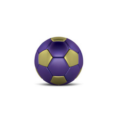 blue gold soccer ball on white background vector image