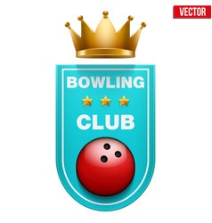 bowling badge and label vector image