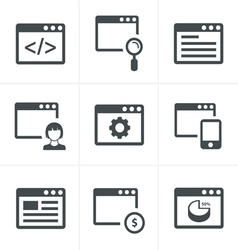Browser icon set vector