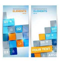 Business infographic elements vertical banners vector