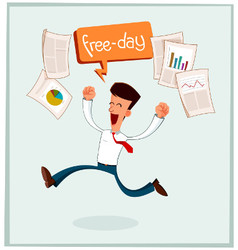 Businessman getting his free time vector