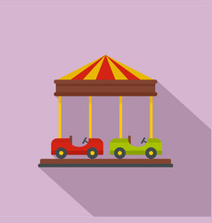 car carousel icon flat style vector image