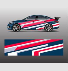 Car wrap design for sport wrap design vector