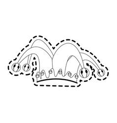 clown cartoon icon image vector image