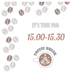 coffe break banner with cup vector image