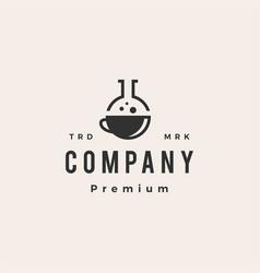coffee lab laboratory hipster vintage logo icon vector image