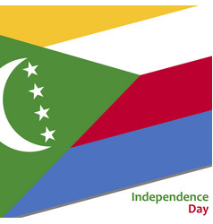 Comoros independence day vector