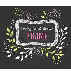 Creative artistic background spring invitation vector