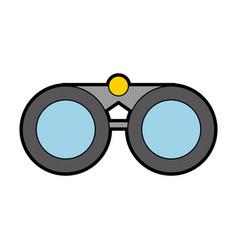 Cute grey binoculars cartoon vector