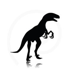 Dinosaurs raptor vector