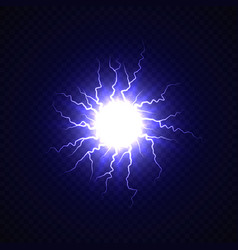 Electric ball with lightning effect vector