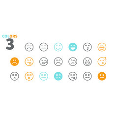 Emotions ui pixel perfect well-crafted thin vector