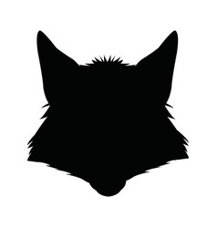 Fashion portrait of fox hipster isolated on white vector