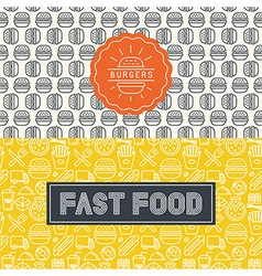 Fast food package design elements vector