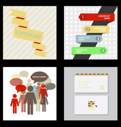Flyer for business and web information vector