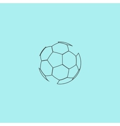 football ball - soccer vector image