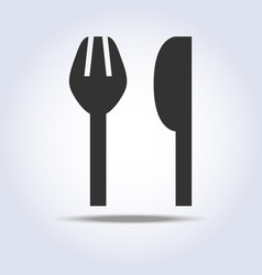 Fork knife sign simple icon in gray colors vector