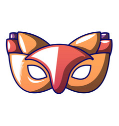 fox carnival mask icon cartoon style vector image