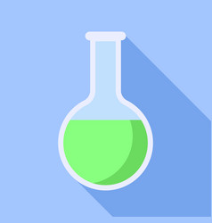 green flask icon flat style vector image