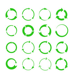 green recycling arrows vector image