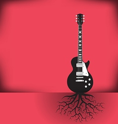 Guitar roots red vector