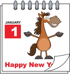 Happy new year calendar vector